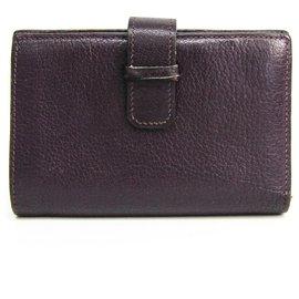 Hermès-Portefeuille Hermes Purple Chevre Mysore Julla-Violet