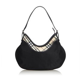Burberry-Burberry Black Nylon Hobo Bag-Black,Multiple colors