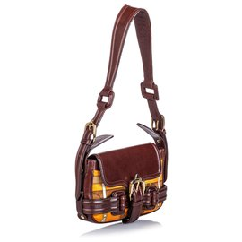 Burberry-Burberry Brown Printed Shoulder Bag-Brown,Multiple colors