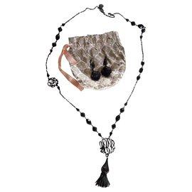 Gas-Ensembles de bijoux-Noir
