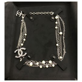 Chanel-Chanel multi-strand necklace-Metallic