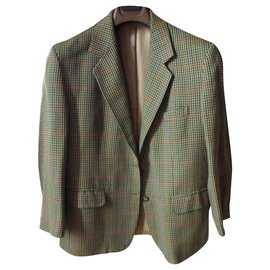 Burberry-BURBERRY, small check jacket, 44.-Beige