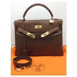 Hermès-hermes kelly 32-Light brown