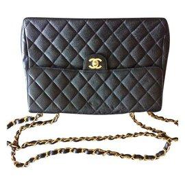 Chanel-Modèle jumbo 30cm-Noir
