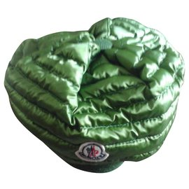 Moncler-Bonnet en plumes Moncler-Vert foncé