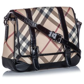 Burberry-Burberry Brown Nova Check Coated Canvas Crossbody Bag-Brown,Multiple colors,Beige