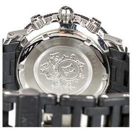 Hermès-Montre Femme Hermes Black Clipper Diver Chronographe Quartz-Noir,Argenté