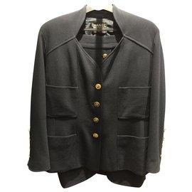 Chanel-Suit-Dark blue