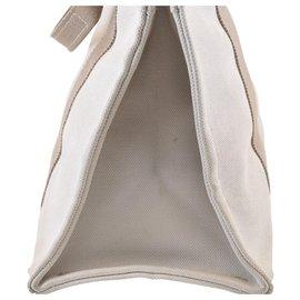 Hermès-Hermès cabas-Blanc