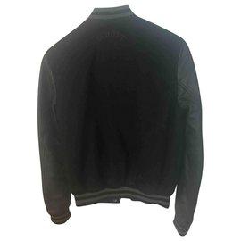 Schott-Black leather schott jacket-Black