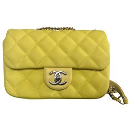 Chanel-Handbags-Yellow