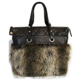 Chanel-Grand sac cabas marron-Marron,Marron foncé