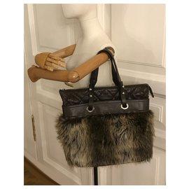 Chanel-Large Tote Bag Brown-Brown,Dark brown