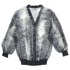 Hermès-GRAY SILK FUR FR36/38-Grey