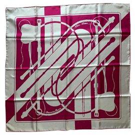 Hermès-Hermes Click clack scarf-Pink