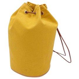 Hermès-Hermès Mini Polochon-Yellow