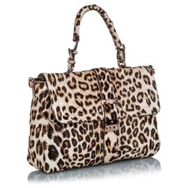 Mulberry-Mulberry Brown Leopard Print Ponyhair Satchel-Brown,Beige,Dark brown