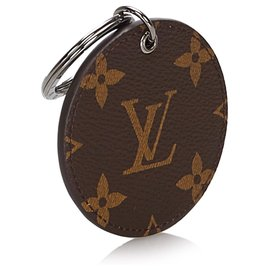 Louis Vuitton-Louis Vuitton Brown Monogram Illustre Logos Bag Charm-Brown,Multiple colors