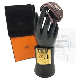 Hermès-Hermes Kelly chien extrême alligator GHW-Noir