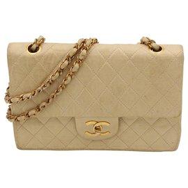 Chanel-Vintage CHANEL bag, Timeless model, CIRCA 1970,-Beige
