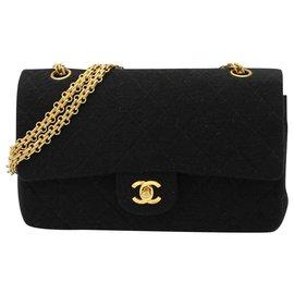 Chanel-Vintage CHANEL bag, Timeless model, CIRCA 1986-1988-Black