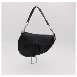 Dior-Vintage DIOR bag, Saddle model, 2002 by Galliano.-Black