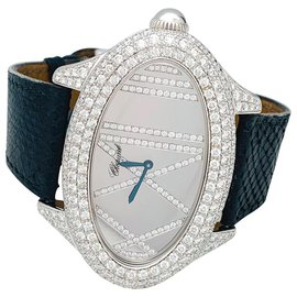 Chopard-Chopard fine jewelery watch in white gold and diamonds.-Other
