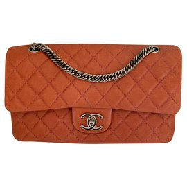 Chanel-classical-Pink,Orange,Coral