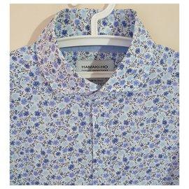Autre Marque-chemises-Bleu,Multicolore