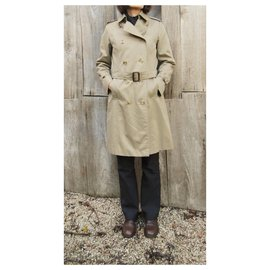 Burberry-vintage Burberry trench 36, khaki color-Khaki