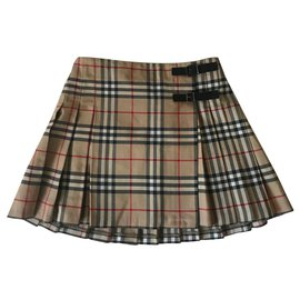 Burberry-Skirts-Beige