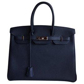 Hermès-Hermès Birkin 35-Bleu Marine