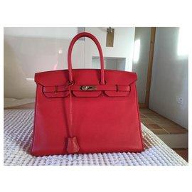 Hermès-Hermès Birkin 35-Rouge