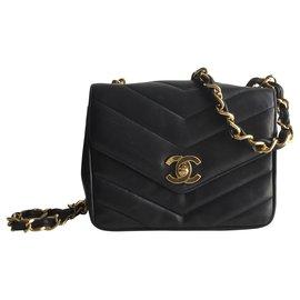 Chanel-Mini flap Timeless-Bleu foncé