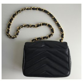 Chanel-Mini flap Timeless-Dark blue