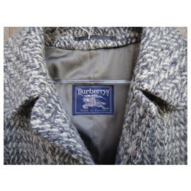 Burberry-Burberry vintage coat in Irish tweed 44-Grey