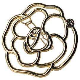 Chanel-Camélia de tête-Doré