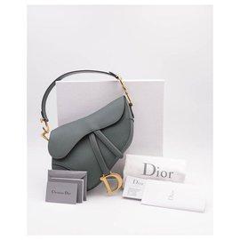 Christian Dior-Dior Saddle M Bag 2019-Verde oliva