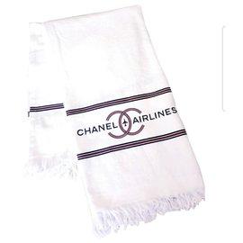 Chanel-Serviette XL chanel neuf édition limitée-Blanc,Rouge,Bleu Marine