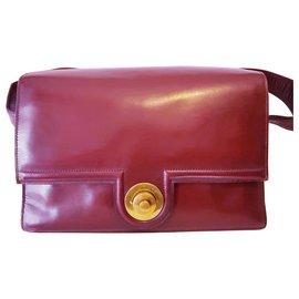 Hermès-Hermes vintage bag-Golden,Dark red