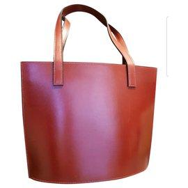 Hermès-Hermes bag-Dark red