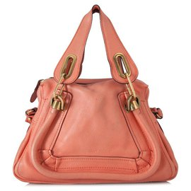 Chloé-Chloe Pink Leather Paraty Satchel-Pink