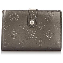 Louis Vuitton-Louis Vuitton Gray Monogram Mat French Purse-Grey