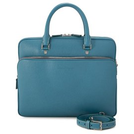 Salvatore Ferragamo-Ferragamo Blue calf leather Leather Briefcase-Blue