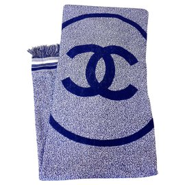 Chanel-new Chanel towel-White,Blue
