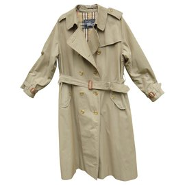 Burberry-vintage Burberry trench 44, pure cotton-Khaki