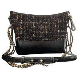 Chanel-GABRIELLE by CHANEL tweed borsa hobogrande-Black