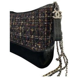 Chanel-GABRIELLE de CHANEL tweed  borsa hobogrande-Noir