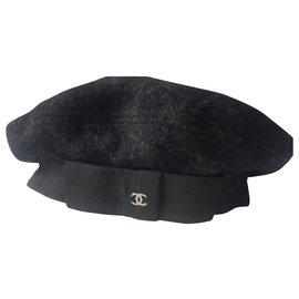 Chanel-Chanel beret-Black,Dark grey