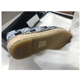 Chanel-Espadrilles Chanel-White,Light blue,Dark blue